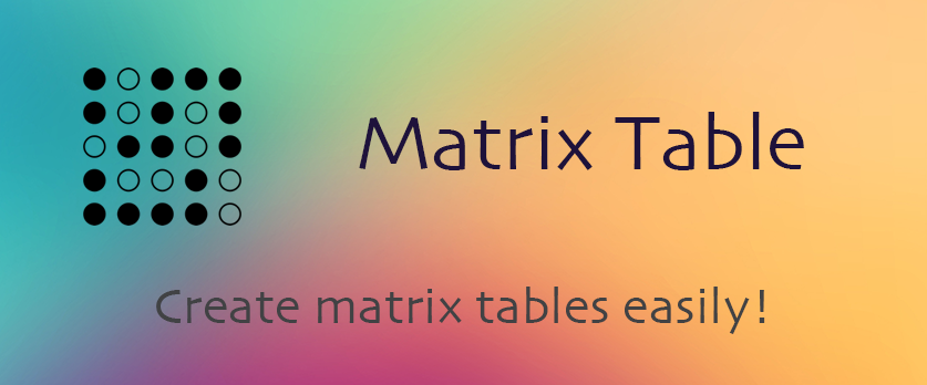 Matrix Table - Plugin Banner Image